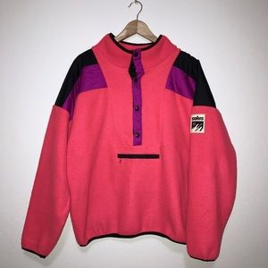 vtg 90s SOLUS🌵oversized retro neon ski fleece